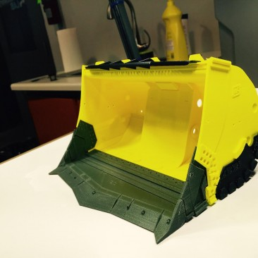Carriere Industrial Bucket Assembly 3D Print